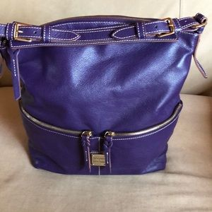 New with tags purple leather Dooney & Bourke bag